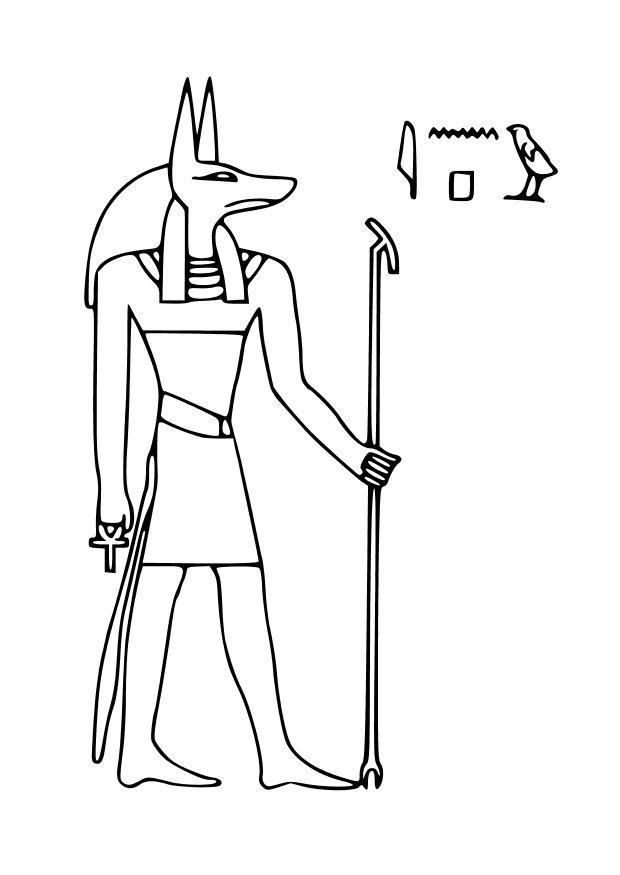 Dibujo para colorear Anubis - Img 27031