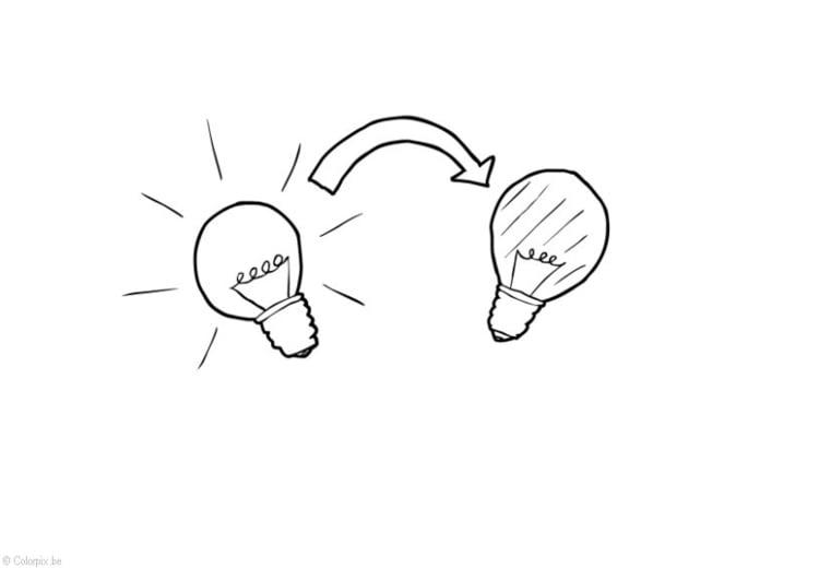 Dibujo para colorear Apagar la luz - ahorro de energía - Img 14406