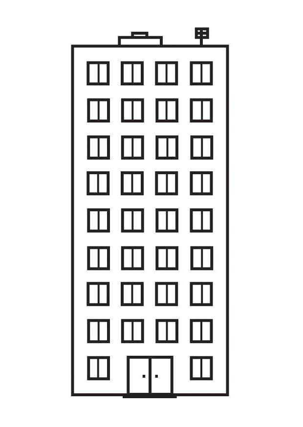Dibujo para colorear apartamento  Img 23141
