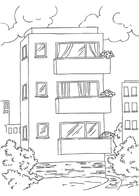Dibujo para colorear apartamento - Img 26228