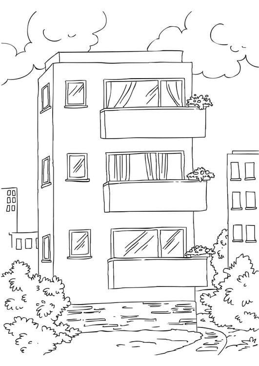 Dibujo Para Colorear Apartamento Img 26228