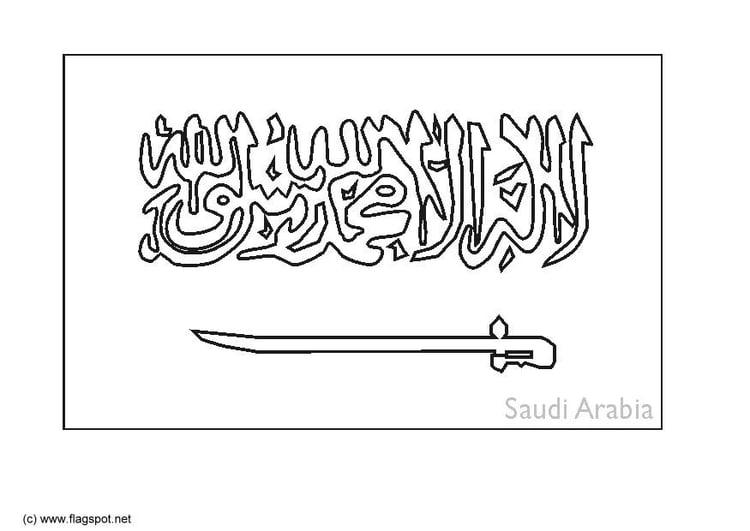 Dibujo Para Colorear Arabia Saud