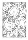 Dibujo para colorear arácea