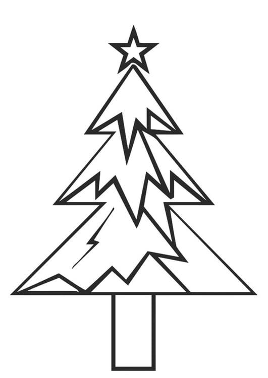 Dibujo Para Colorear árbol De Navidad Con Estrella De