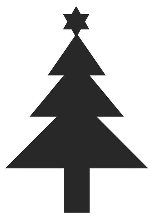 Dibujo Para Colorear árbol De Navidad Con Estrella De Navidad Img
