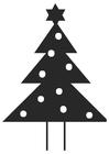Dibujo para colorear árbol de navidad con estrella de navidad