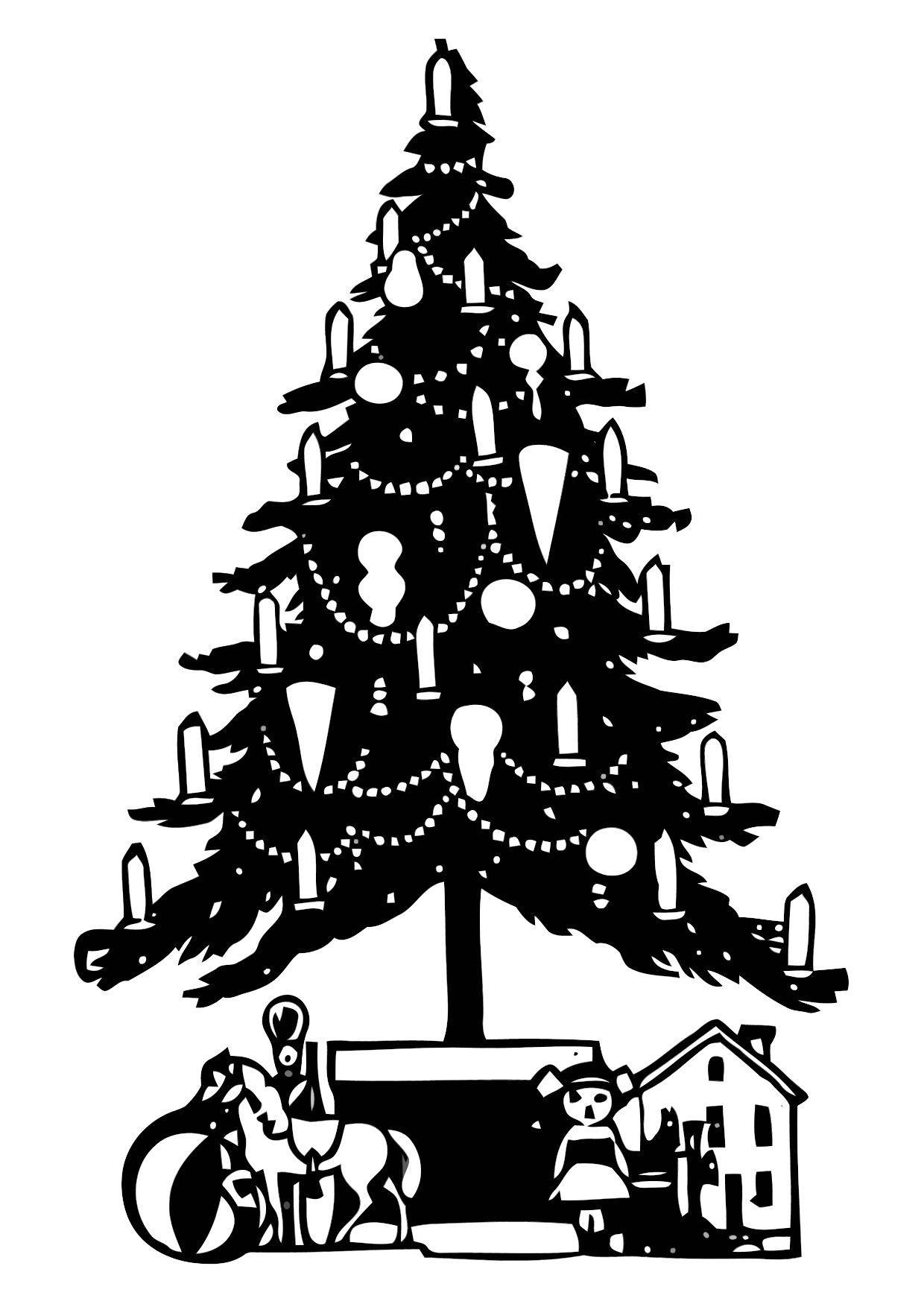 Dibujo para colorear Árbol de navidad - Img 11333