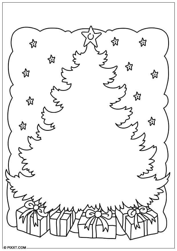 Dibujo para colorear rbol de Navidad  Img 28179
