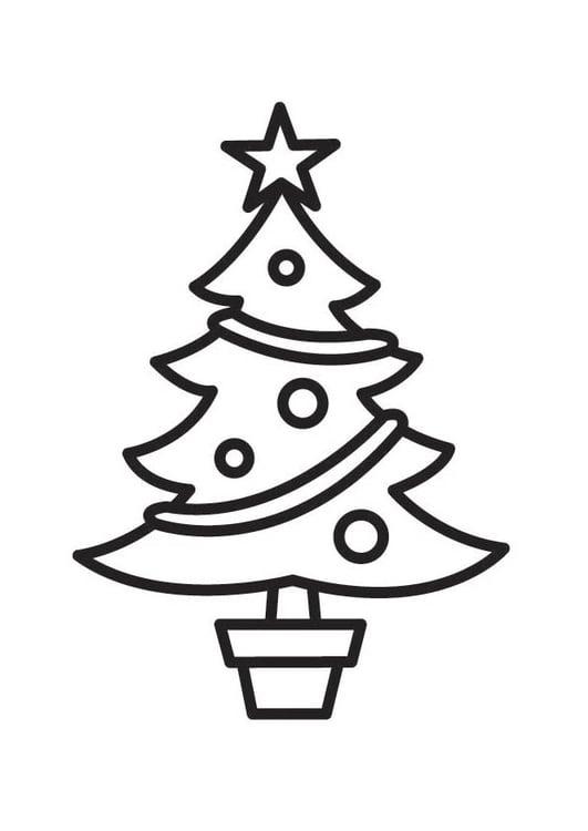 Dibujo para colorear árbol de navidad - Img 18336