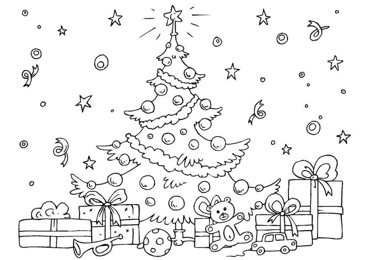 Dibujo para colorear árbol de Navidad - Img 23061
