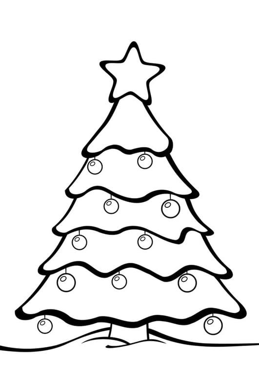 Dibujo para colorear árbol de Navidad - Img 28163
