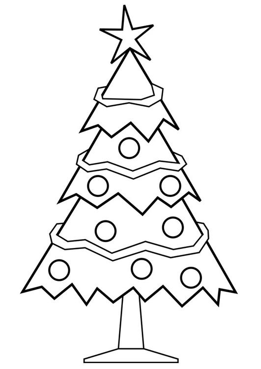 Dibujo para colorear árbol de Navidad - Img 28167
