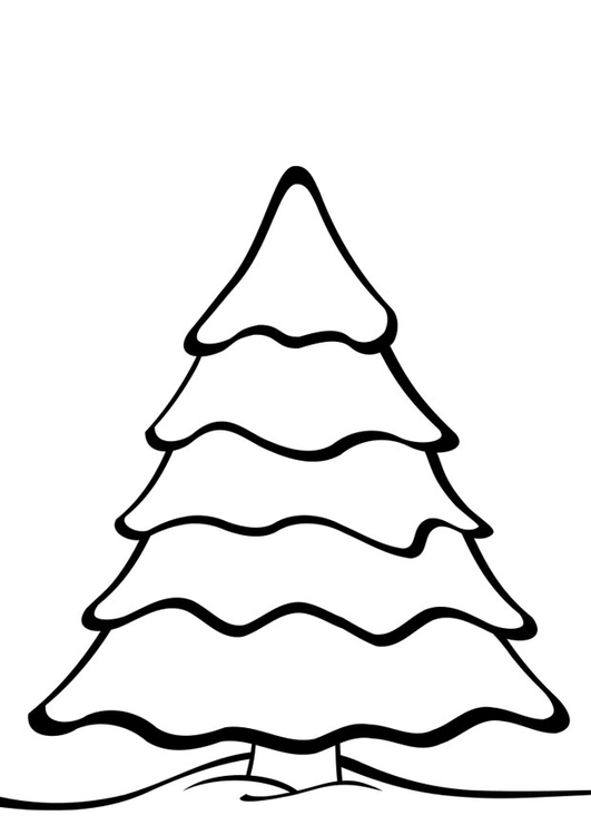 dibujo para colorear rbol de navidad