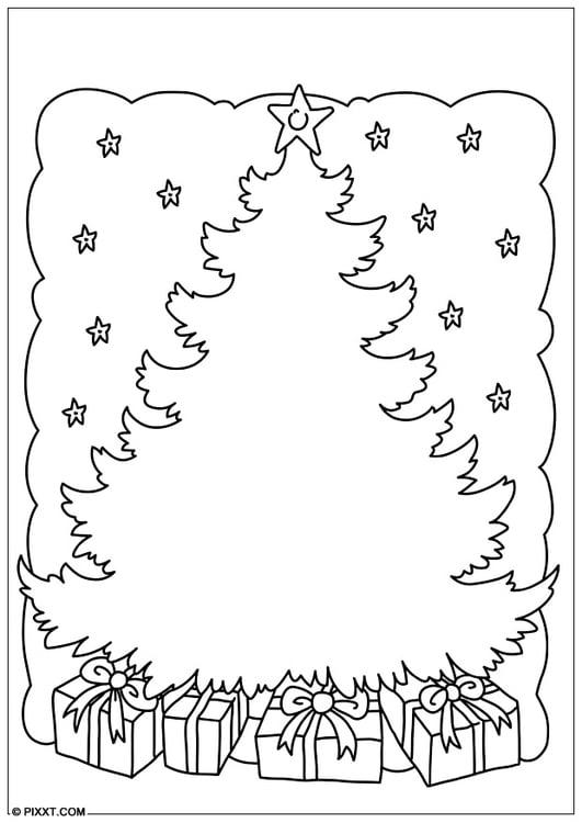 Dibujo para colorear rbol de navidad img 28179 for Dibujos de arboles de navidad