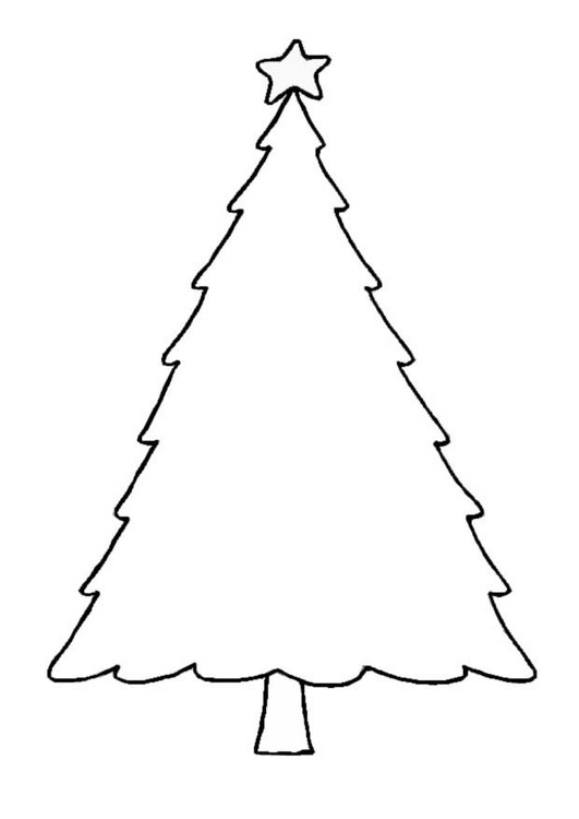 Dibujo para colorear rbol de navidad img 8654 for Dibujo arbol navidad