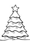 Dibujo para colorear árbol de Navidad