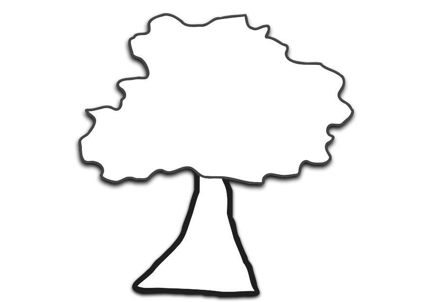 Dibujo para colorear árbol - Img 19689