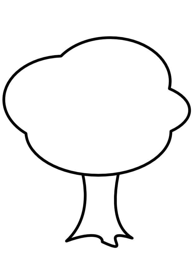 Dibujo para colorear Árbol - Img 9981