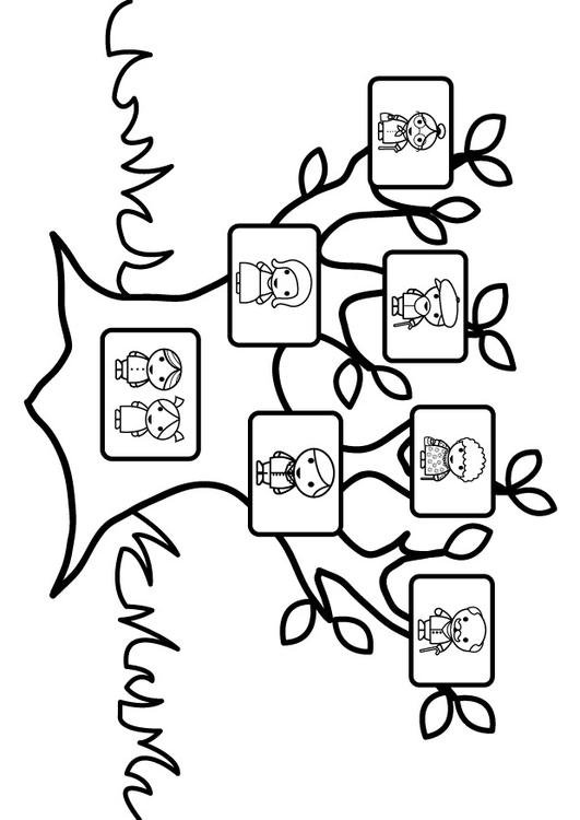 family tree coloring page for kids - dibujo para colorear rbol geneal gico img 26873