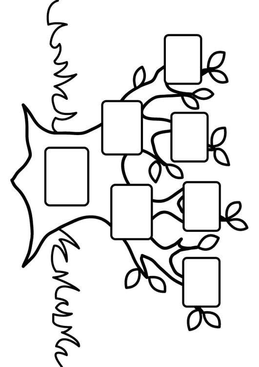 Dibujo para colorear rbol genealgico vaco  Img 26875