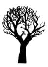 Dibujo para colorear árbol muerto