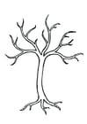 Dibujo para colorear árbol