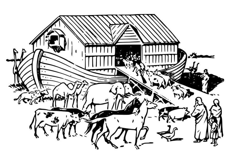 Dibujos Para Colorear Del Arca De Noe Para Imprimir: Dibujo Para Colorear Arca De Noé