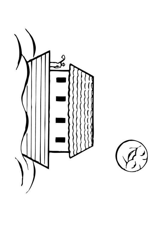 Dibujo para colorear Arca de Noé - Img 10505