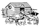 Dibujo para colorear arca de Noé