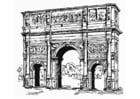 Dibujo para colorear Arco de Constantino, Roma