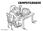 Dibujo para colorear Área de informática