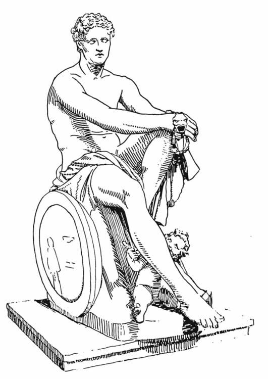 Dibujo para colorear Ares, un dios griego - Img 13206