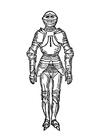 Dibujo para colorear armadura