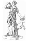 Dibujo para colorear Artemis, diosa de la mitología griega