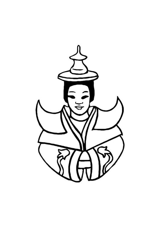 Dibujo para colorear Asia - Img 10741