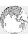 Dibujo para colorear Ásia