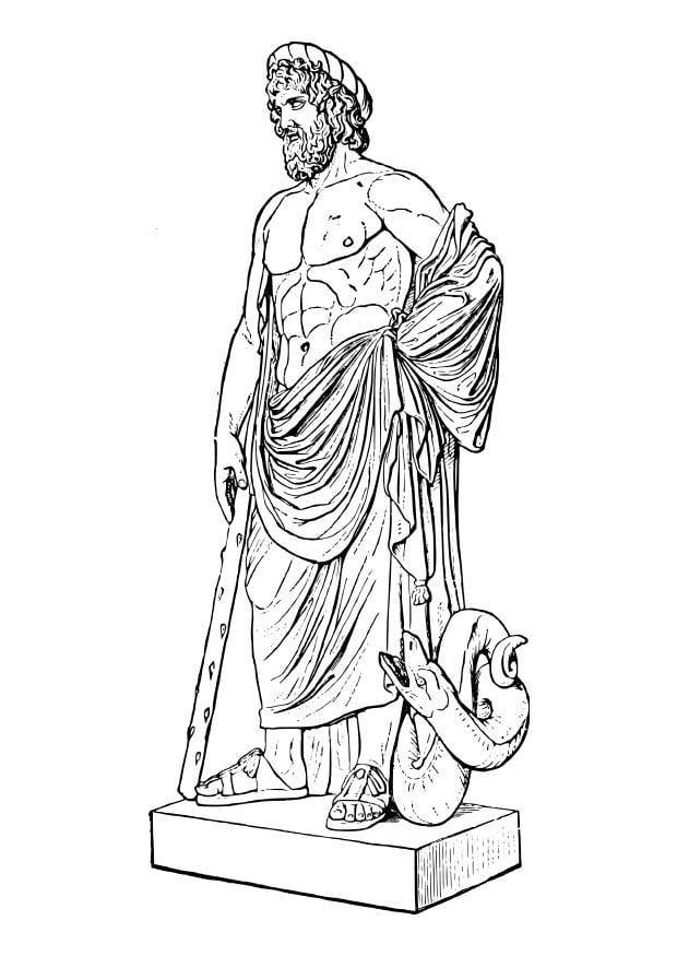 Dibujo Para Colorear Asklepios Img 18620