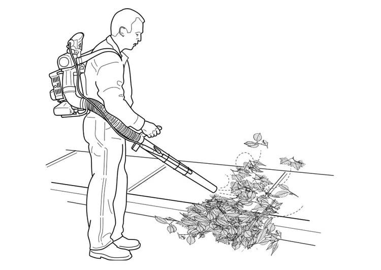 Dibujo para colorear aspirador de hojas - Img 27344