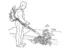 Dibujo para colorear aspirador de hojas