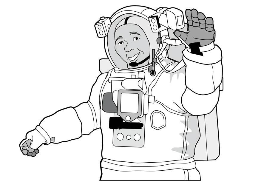 Atractivo Astronauta Para Colorear Molde - Dibujos Para Colorear En ...