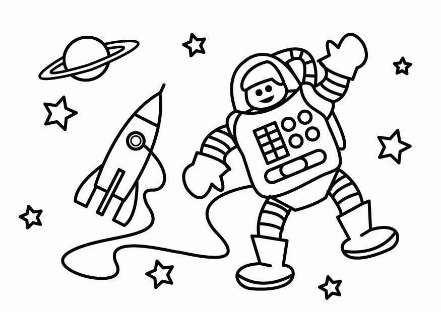Hermosa Astronauta Hoja Para Colorear Viñeta - Dibujos Para Colorear ...
