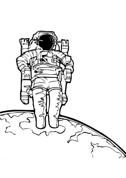 Dibujo para colorear Astronauta - Img 10036