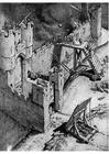 Dibujo para colorear Ataque a un castillo