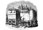 Dibujo para colorear Ataque en castillo