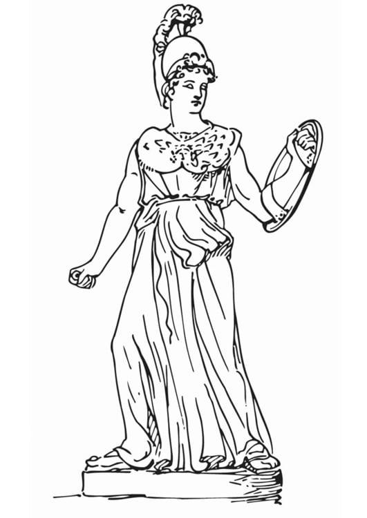 Dibujo para colorear Atenea - Img 12916