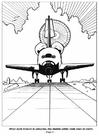 Dibujo para colorear Aterrizaje de nave espacial