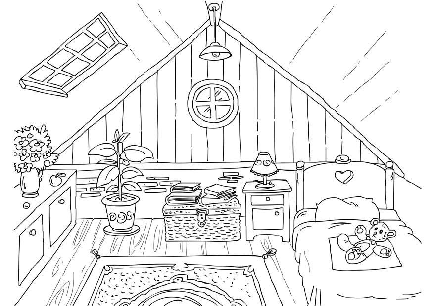 Imagenes De Baño Para Colorear:Bedroom Coloring Book