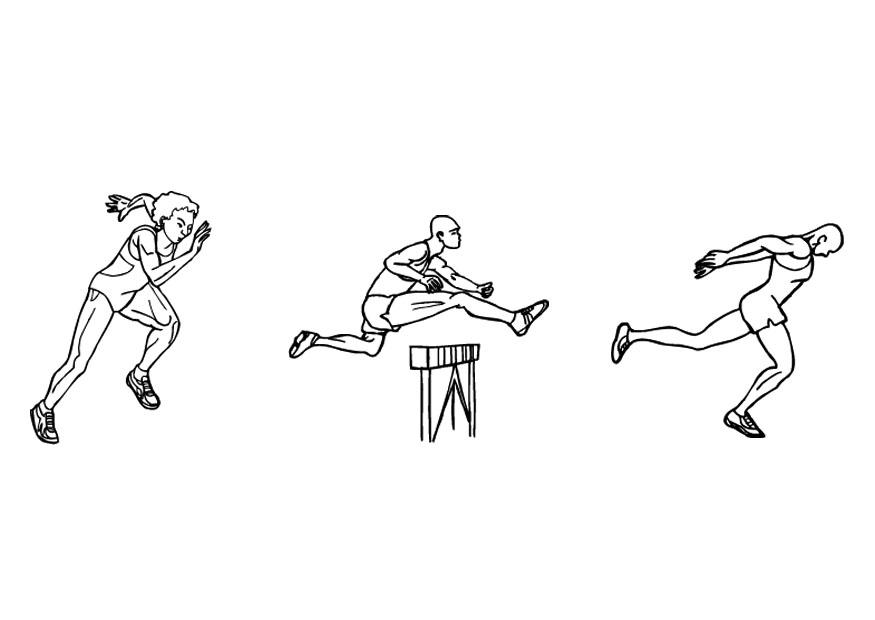Dibujo Para Colorear Atletismo Correr Img 10135