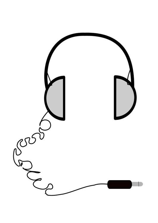 dibujo para colorear auriculares de tel u00e9fono