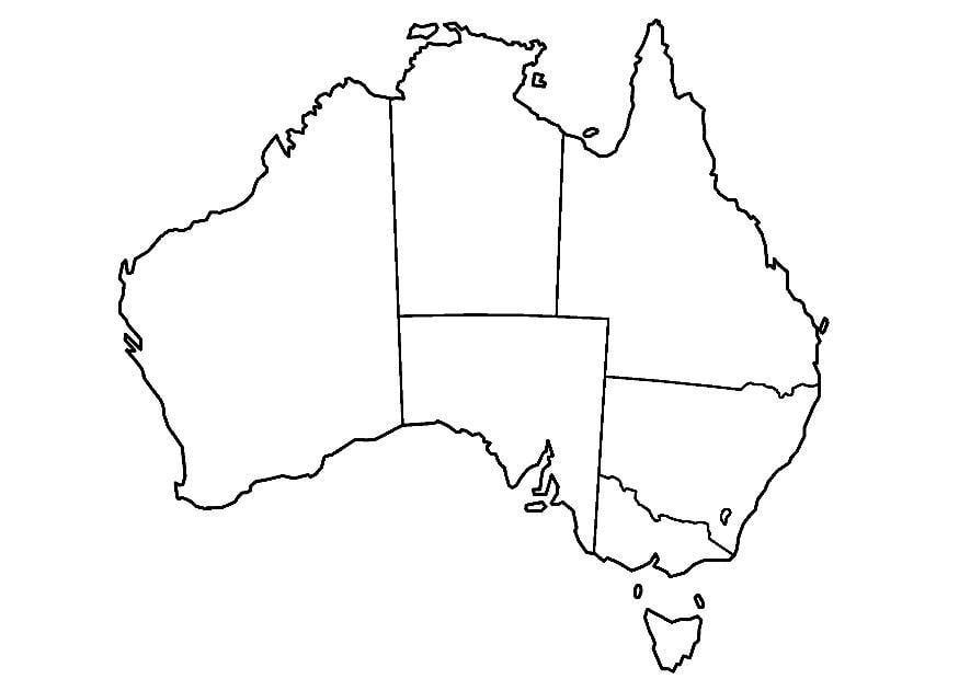 Dibujo para colorear Australia - Img 8321